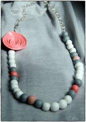Collana lunga fiore e perle