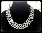 collana perle barocche e catene