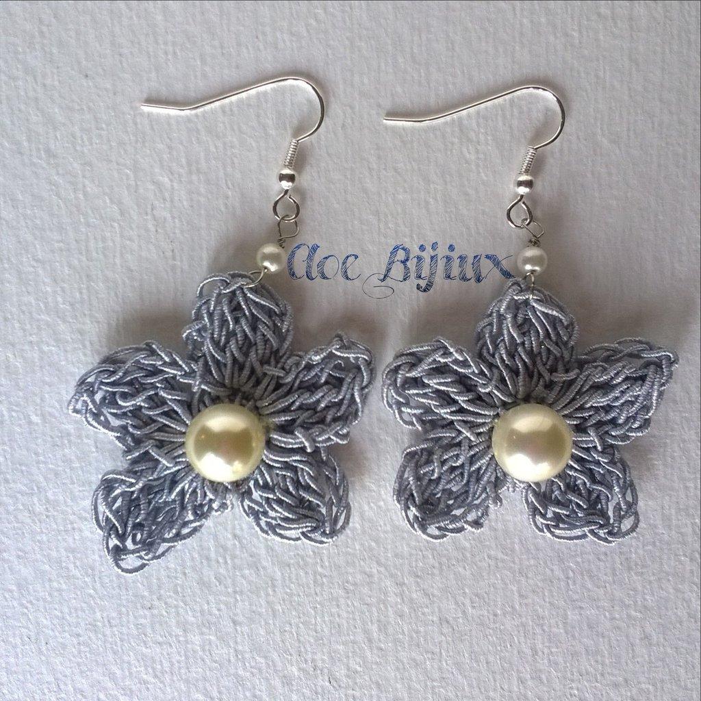 Orecchini Crochet Fiore
