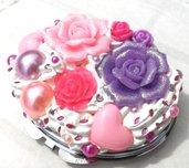 COLLEZIONE 2014:specchietti e tante rose viola e rosa idea regalo Natale!!