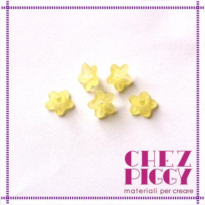 10 x perle a forma di fiorellino - GIALLO