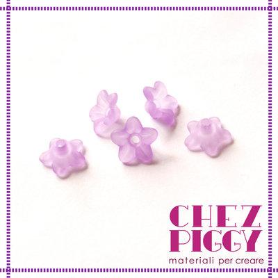 10 x perle a forma di fiorellino - VIOLA