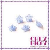 10 x perle a forma di fiorellino - BLU