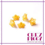 10 x perle a forma di fiorellino - ARANCIONE