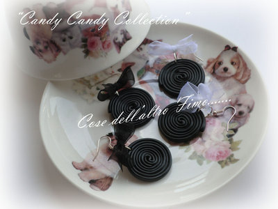 """Orecchini Girelle di Liquirizia """"Candy Candy"""""""