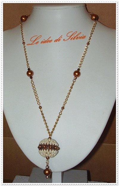 Collana con pendente e perle Swarovski