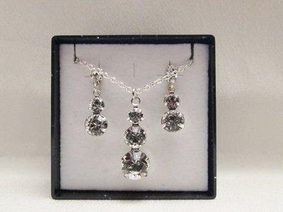 """""""Trilogy"""" - Parure in cristallo Swarovski ed argento 925"""
