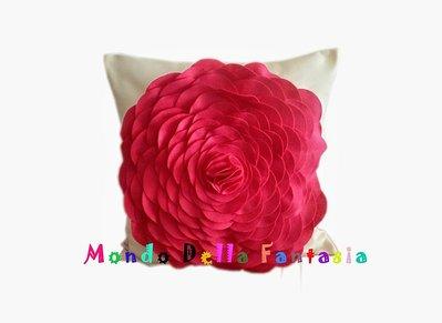 Cuscino fiore 3D in pannolenci