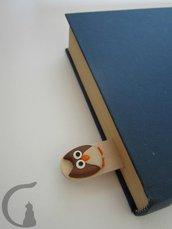 Segnalibro in legno - Amici animali in fimo