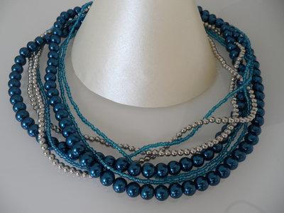 Collana Multifilo Blu