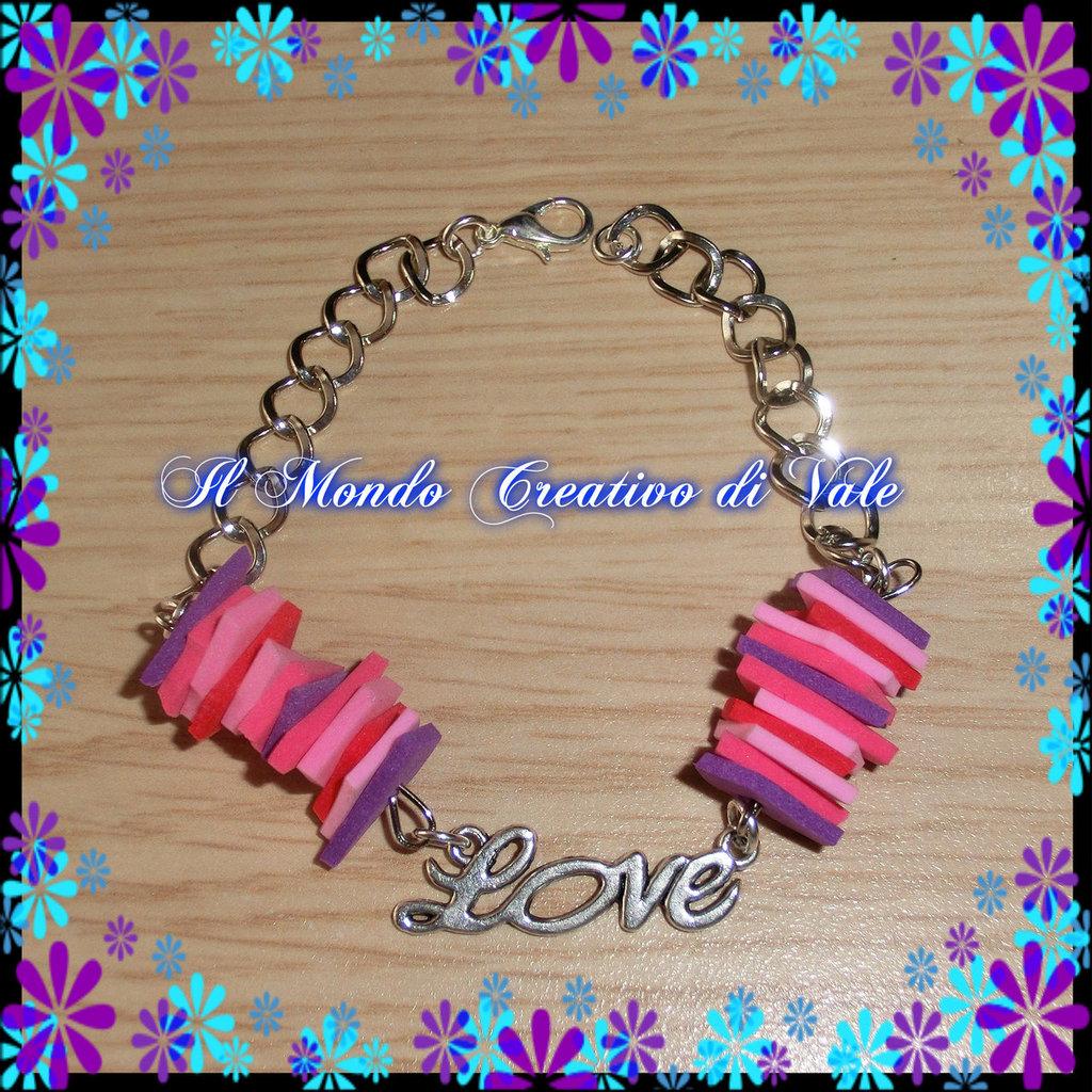 "Bracciale ""LOVE""Violetta"
