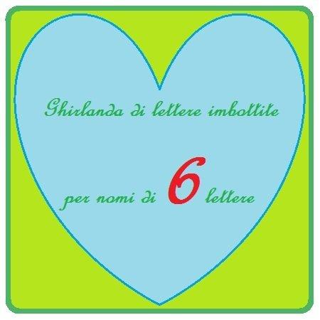 Ghirlanda per nomi realizzati con lettere di stoffa imbottite: la decorazione per la cameretta dei vostri bambini