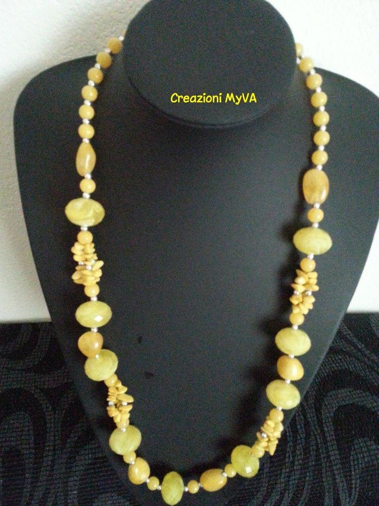 Collana in pietre dure gialle gioielli collane di creazioni su misshobby - Collane di design ...