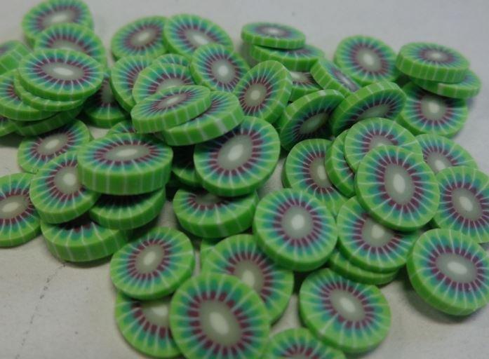 130 Fettine Kiwi da Polymer Clay Canes