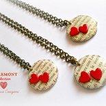 Collana con pendente in legno - Harmony - San Valentino