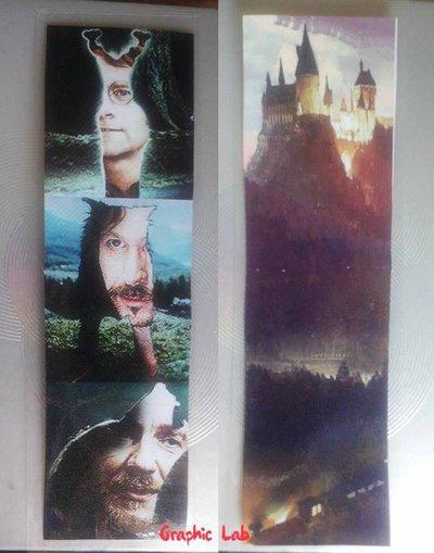 Segnalibro Personalizzato ispirato ai malandrini della saga di libri e film di Harry Potter