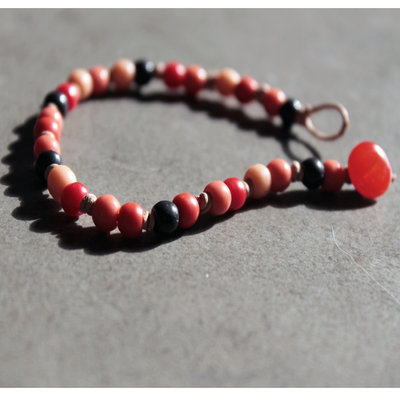 B43.14 - Bracciale con perle vintage anni Settanta - Linea Flower Power
