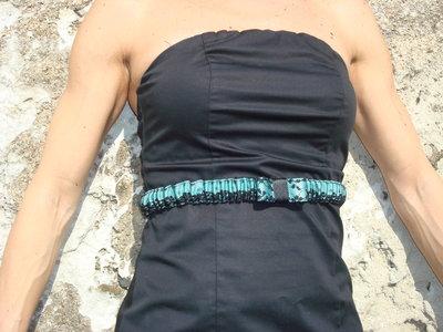 Cintura elastica in pizzo verde acqua