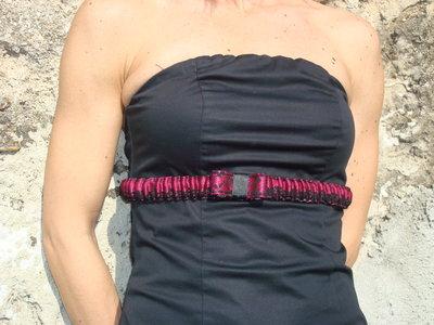 Cintura elastica in pizzo fuxia