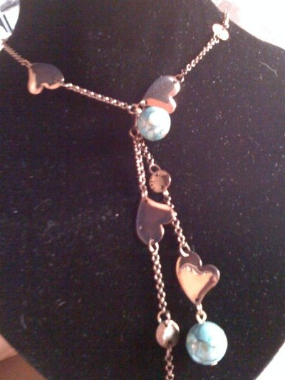 Collana cravattino con turchesite