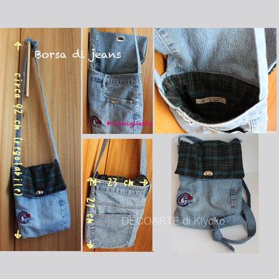 Borsa di jeans con coniglietto