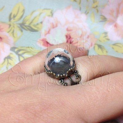 Set anello mini cupoletta di vetro - 1 set