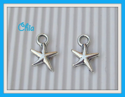 8 charms stella marina 17x14mm