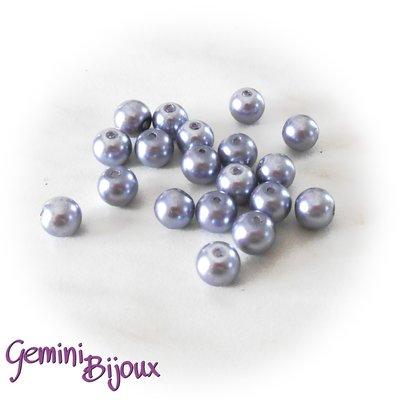 Lotto 20 perle tonde in vetro cerato 8mm carta da zucchero
