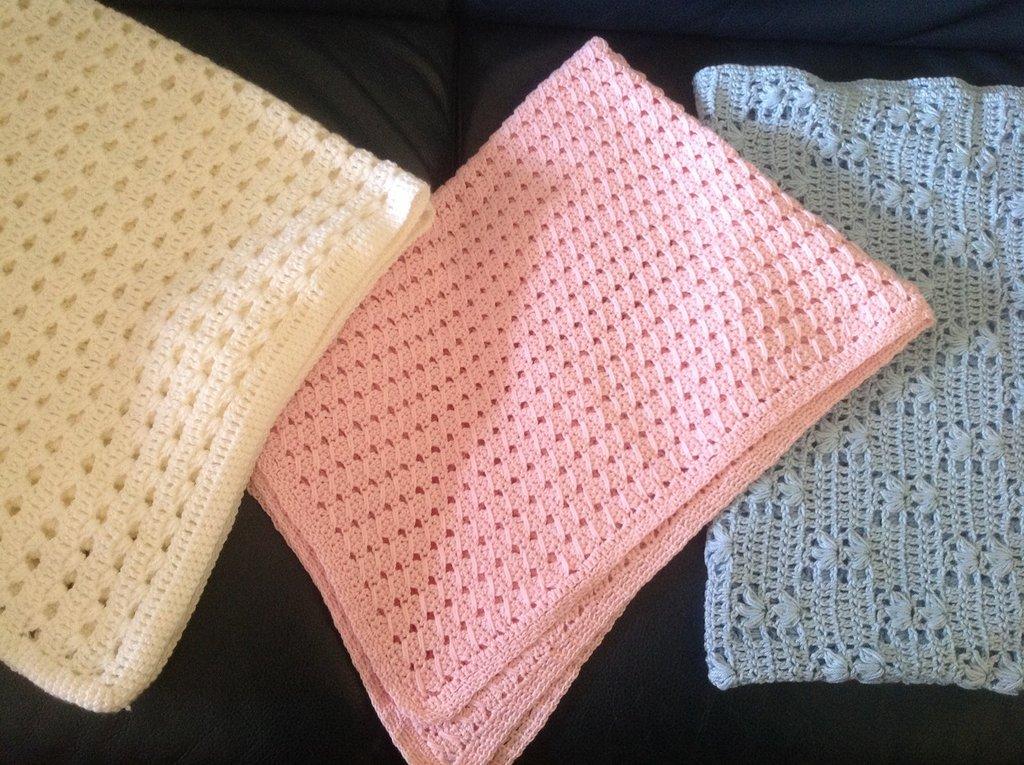 Coperta per bambini in pura lana fatta a mano