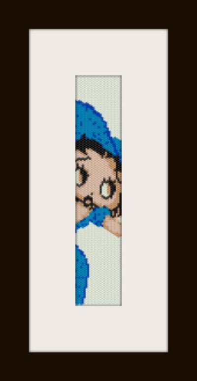 schema bracciale Betty Blu in stitch peyote pattern - solo per uso personale