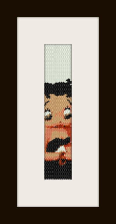 schema bracciale Betty Boop 5 in stitch peyote pattern - solo per uso personale