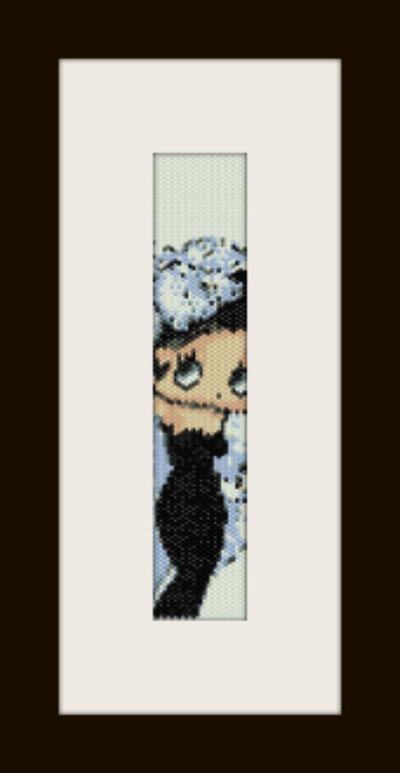 schema bracciale Betty Piuma in stitch peyote pattern - solo per uso personale