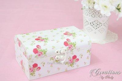 Cofanetto scatola portagioie shabby chic