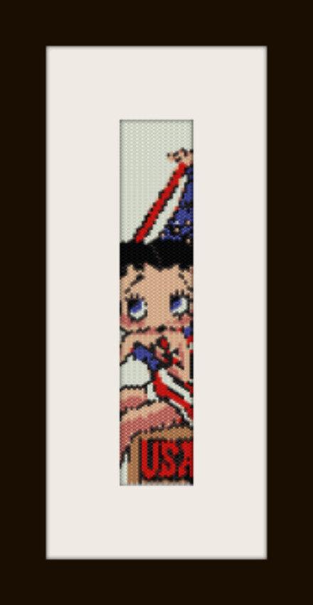 schema bracciale Betty USA in stitch peyote pattern - solo per uso personale