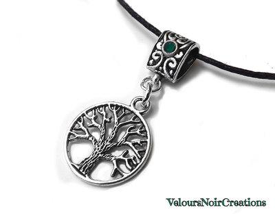 collana albero della vita in argento tibetano