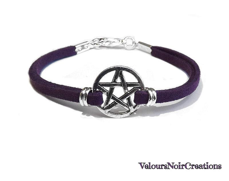 bracciale stella pentacolo wicca