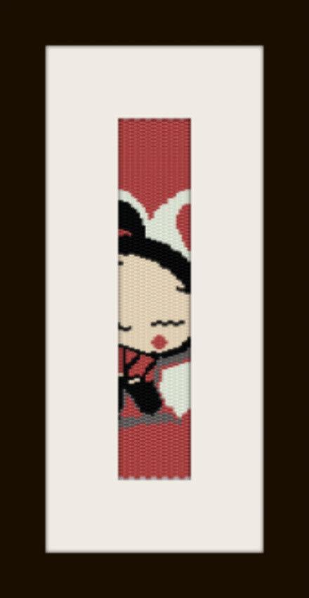 schema bracciale Pucca in stitch peyote pattern - solo per uso personale