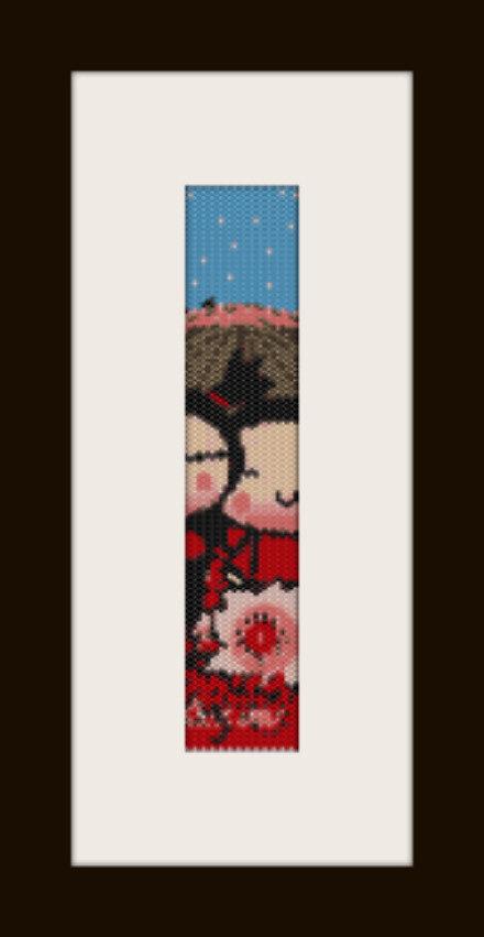 schema bracciale Pucca&Guru in stitch peyote pattern - solo per uso personale