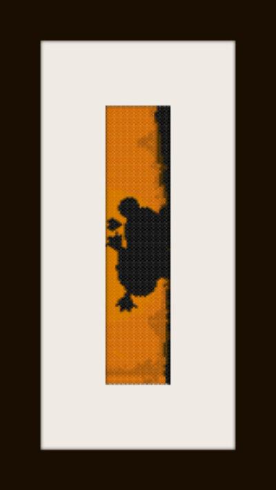 schema bracciale Pucca&Guru tramonto in stitch peyote pattern - solo per uso personale