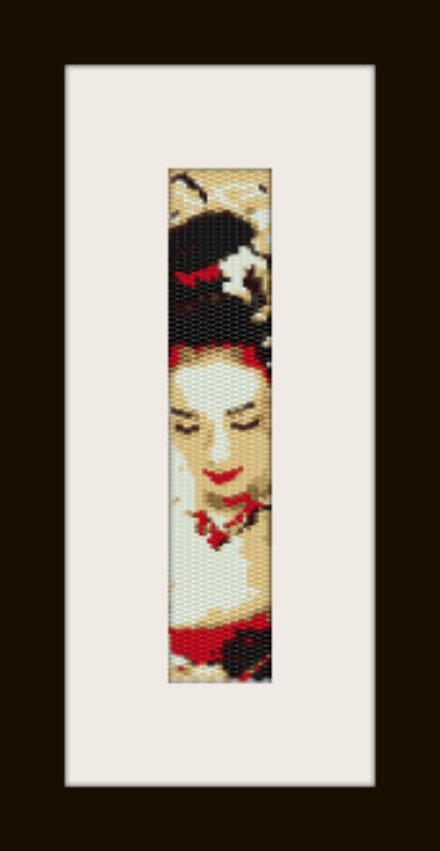 schema bracciale Geisha in stitch peyote ( 2 drop ) pattern - solo per uso personale