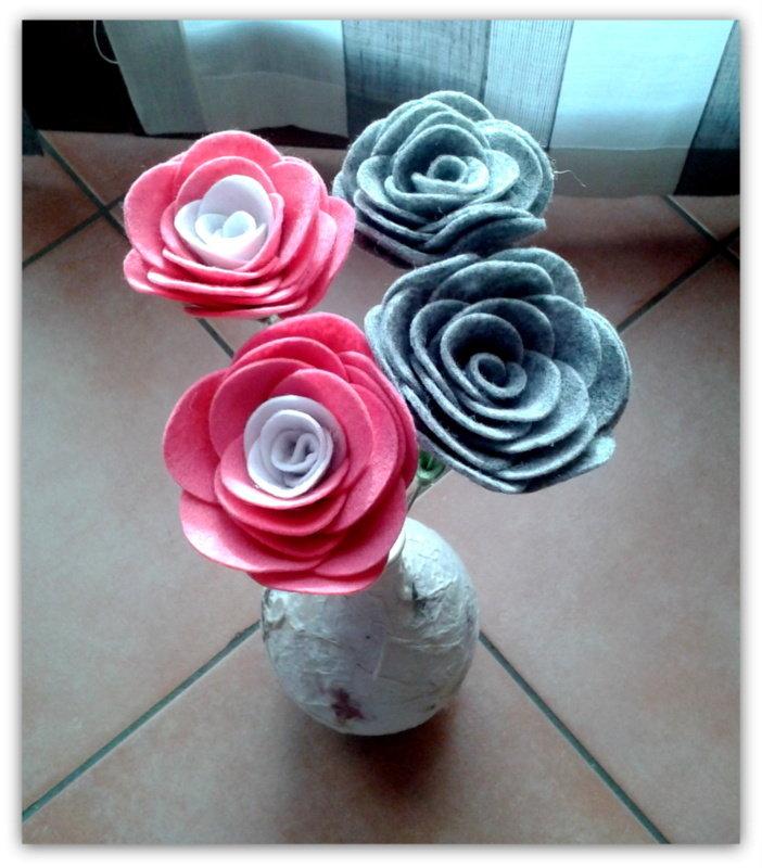 Rose a gambo lungo multicolore