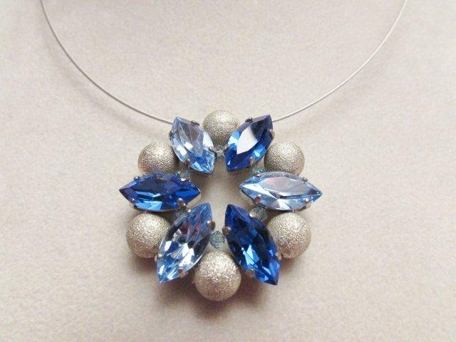 """""""Rosone Azzurro"""" - Girocollo in cristallo Swarovski"""