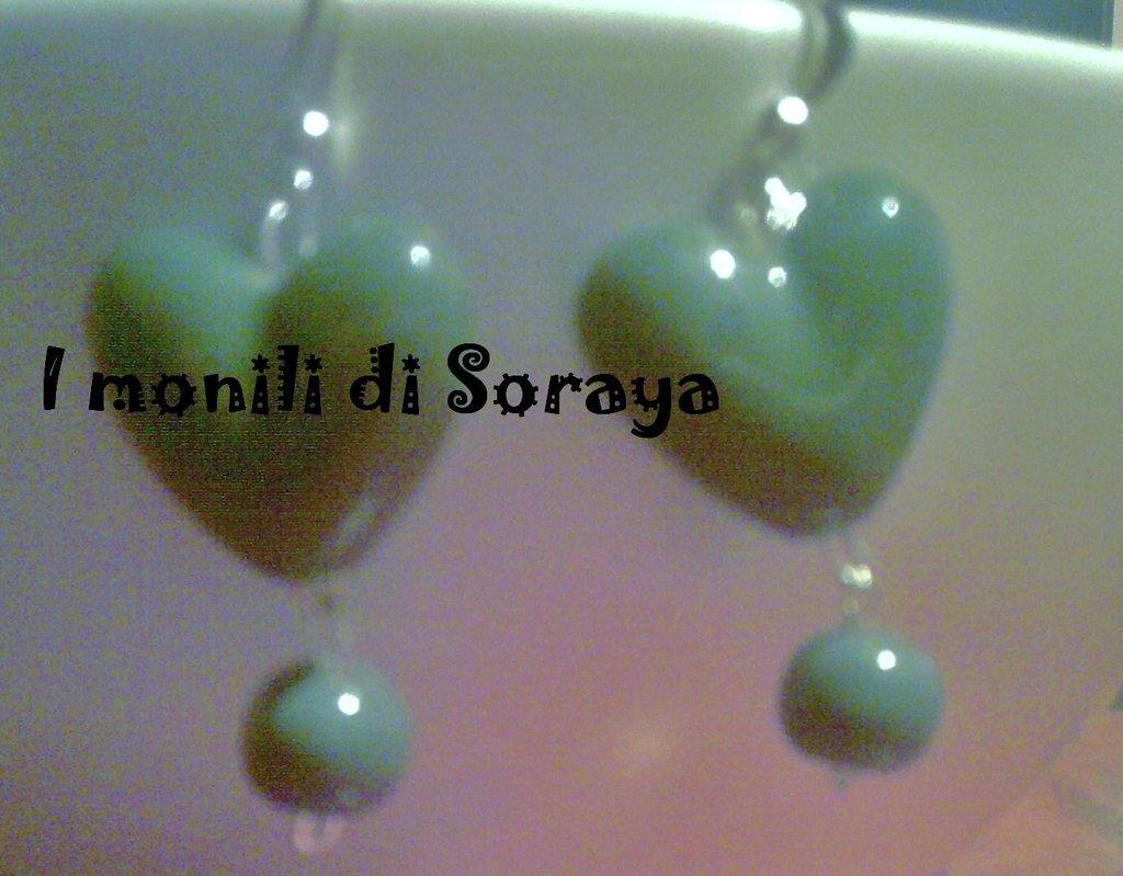 orecchini love verdi