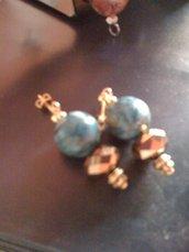 orecchini turchesite e cristalli