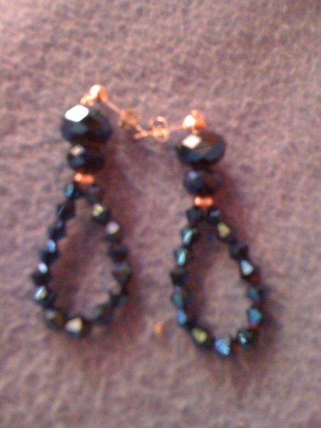 orecchini cristali blu