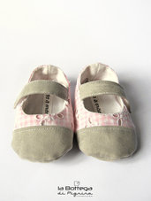 Ballerine per Neonata - Quadretti Rosa