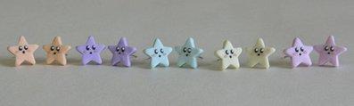 Orecchini Stelle Kawaii Color Pastello - Orecchini a Perno Kawaii - Disponibili con Perno in Acciaio o Magneti per Orecchie non Forate