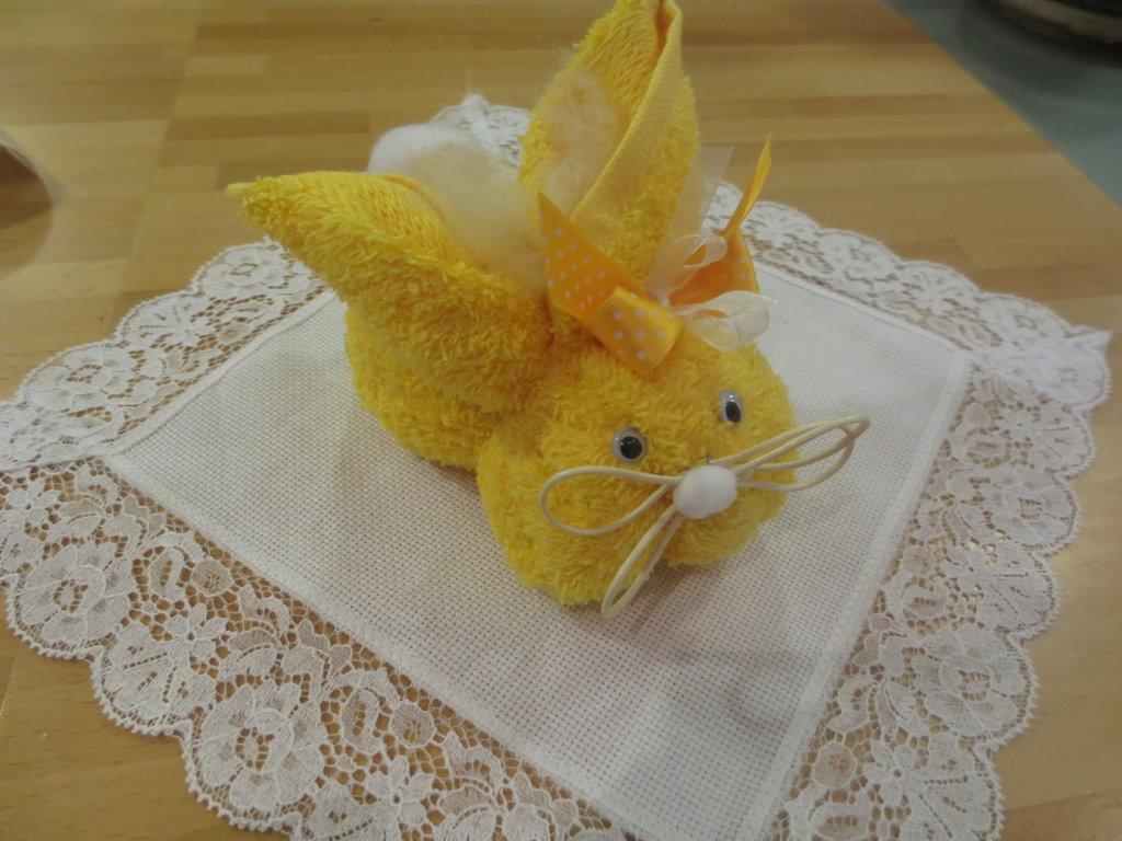 animali con asciugamani coniglio feste idee regalo
