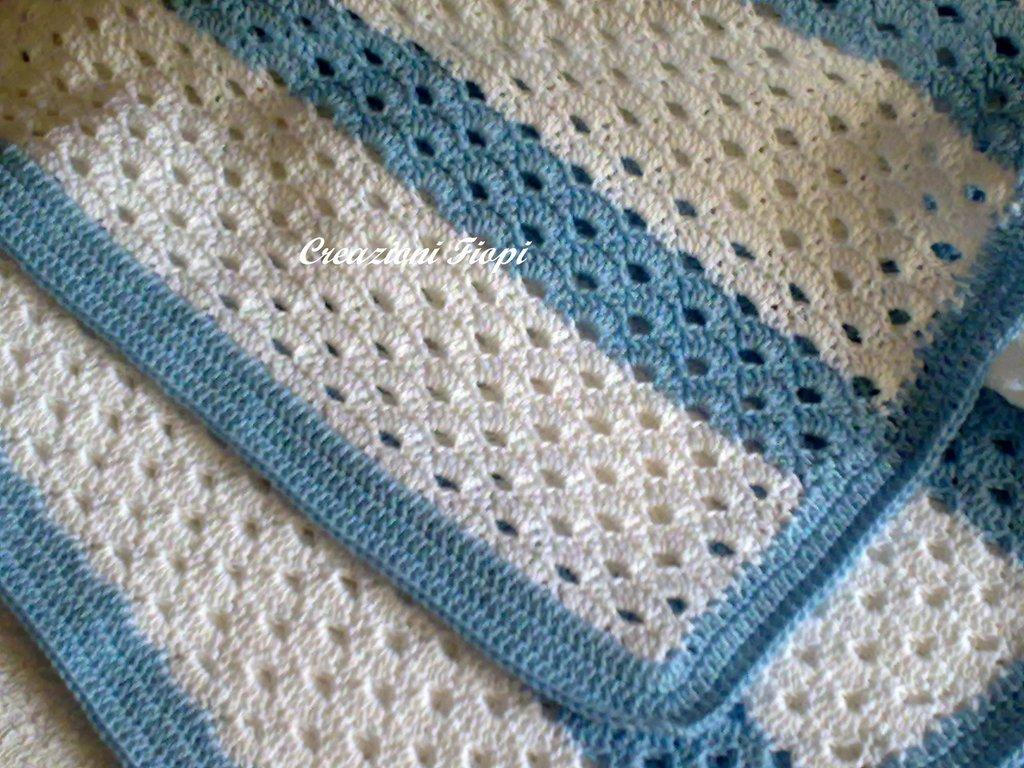 Pattern Copertina Neonato A Righe Bianche E Azzurro Libri Schem