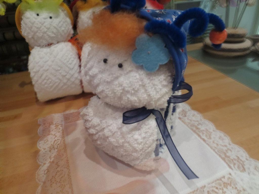 Lumaca con strofinacci feste idee regalo di il for Animali con asciugamani